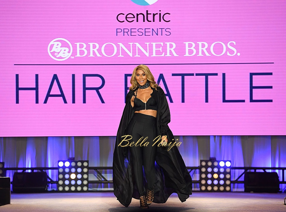 ATLANTA, GA - AUGUST 21:  Recording artist Tamar Braxton onstage at Centric Presents Bronner Bros. Hair Battle at Georgia World Congress Center on August 21, 2016 in Atlanta, Georgia.  (Photo by Paras Griffin/Getty Images)