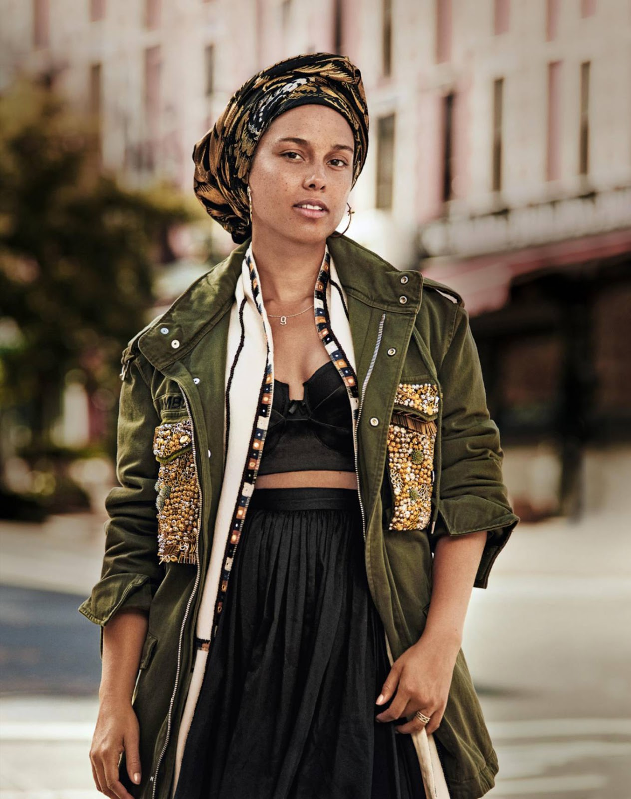Alicia Keys Lands Her Second Make-Up Less Cover! Check out ... Alicia Keys