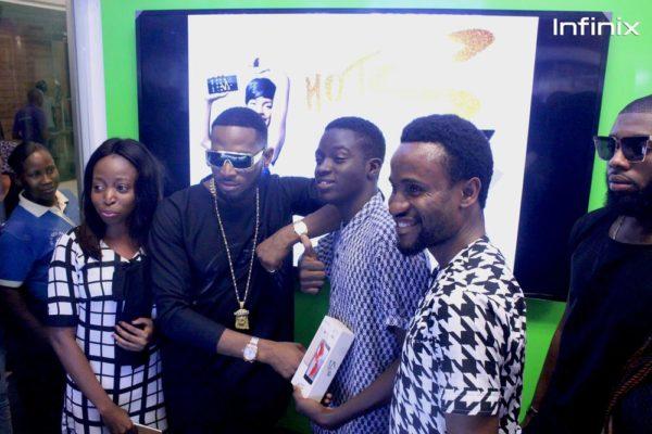 Infinix largest selfie winner with Dbanj & Slot