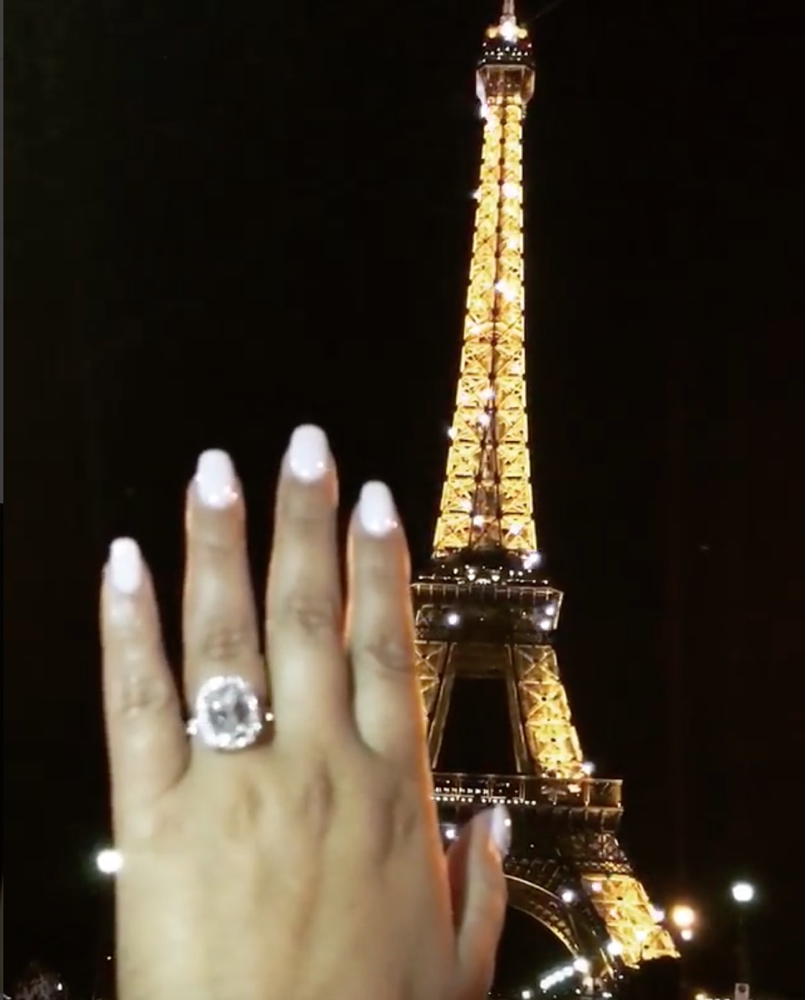 Israel Houghton and Adrienne Bailon Europe Vacation_proposal_ring