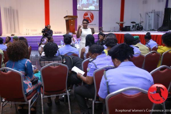 Jumoke Popoola facilitating a Breakout Session