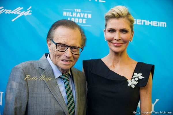 LOS ANGELES, CA - AUGUST 10: Larry King (L) and Shawn King attend at RatPac Entertainment Hosts Special Event for UN Secretary-General Ban Ki-moon at Hillhaven Lodge on August 10, 2016 in Los Angeles, California. (Photo by Emma McIntyre/Getty Images)
