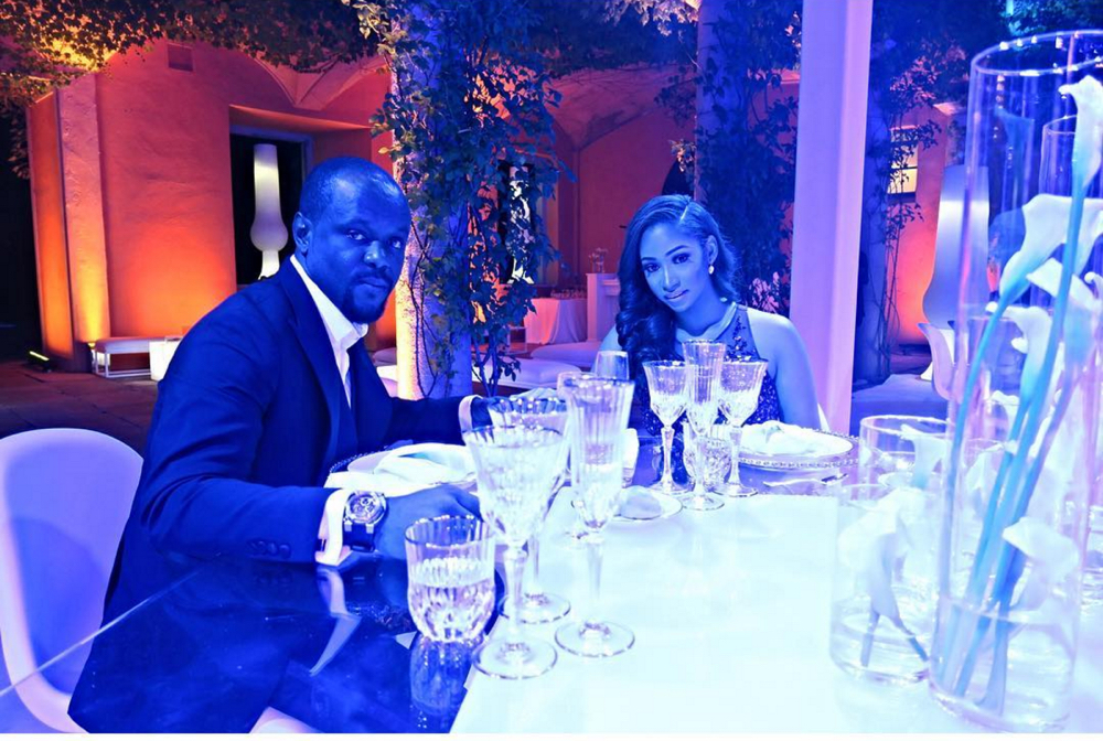 Layal Holm and Seyi Tinubu at their wedding in Lake Como, Italy