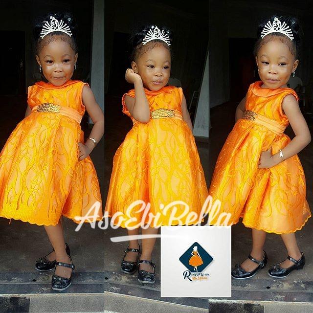 Lil miss sunshine in @readytowearbymelonia_aso ebi, asoebi, asoebibella