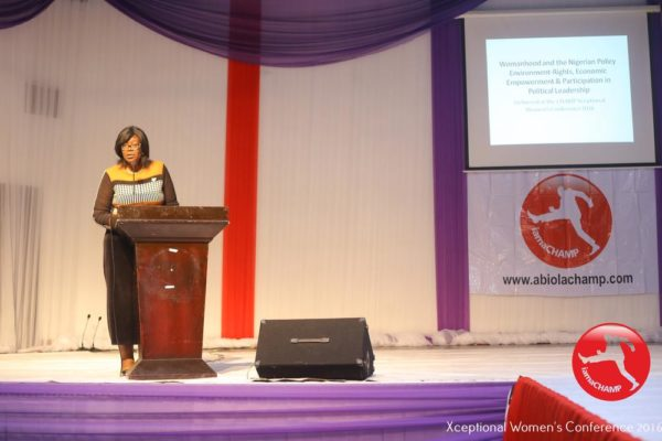 Eniola Sheri-Dada delivering a Paper Presentation @ The Xceptional Women's Conference