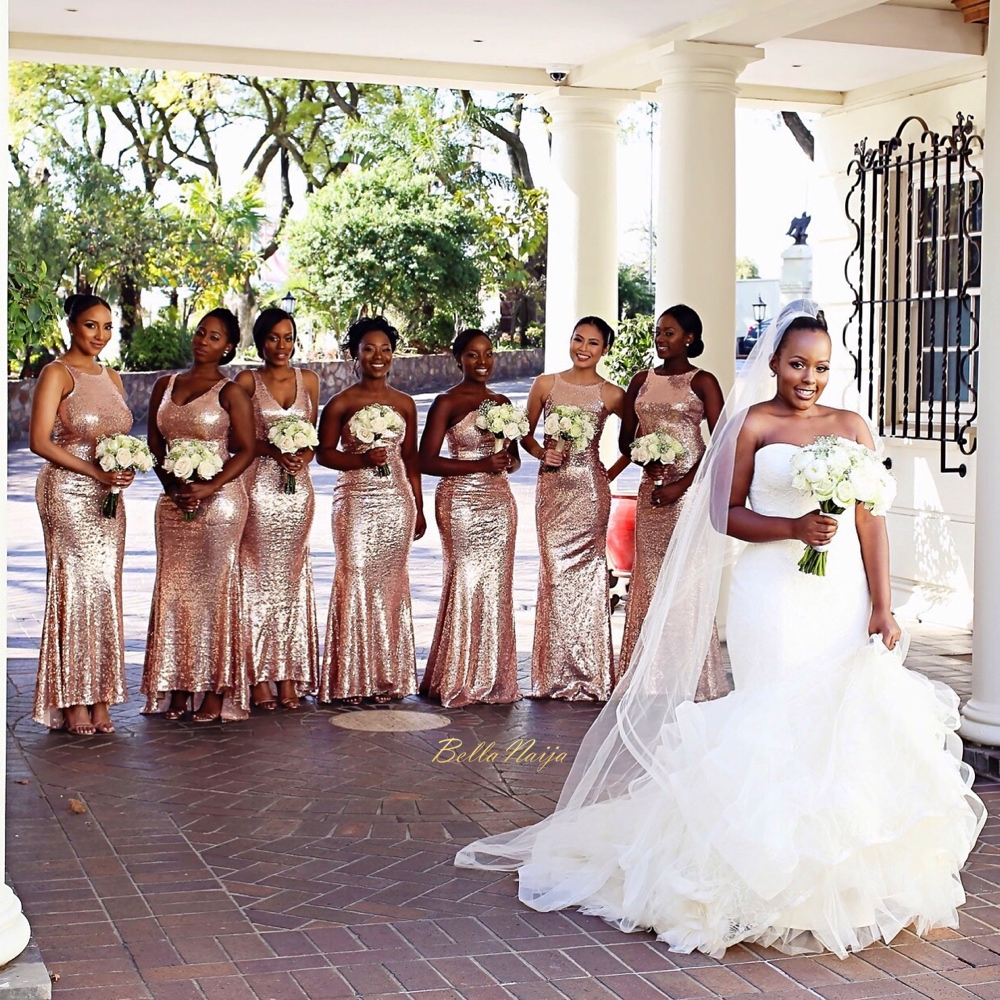 Bellanaija weddings presents nadia black kim k yassah for South african wedding dresses