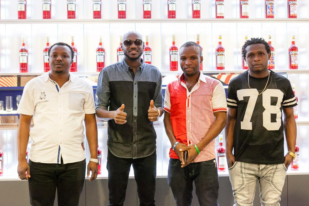 Ndubuisi Onyenanu, 2Baba, Thadeus Abugu and Okonkwo Chukwunonso at the home of Campari