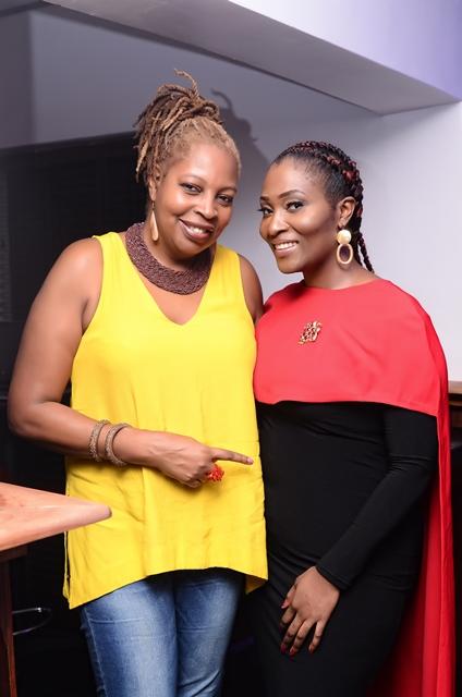 Ngozi Omambala (MD LoudNProudLive) with Ruby Gyang