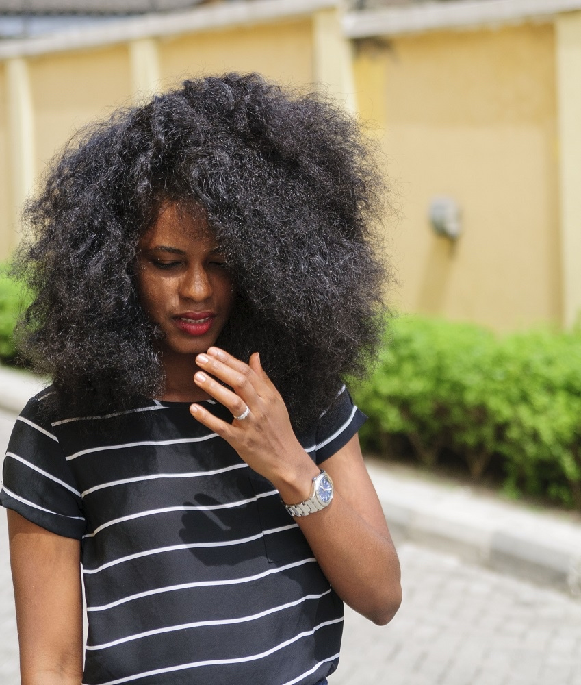 Nikki Anyansi bnfrofriday_Nikki's style diary, stripe it up, fashion, Nikki Anyansi, Style blogger, Nigerian model 4_bellanaija