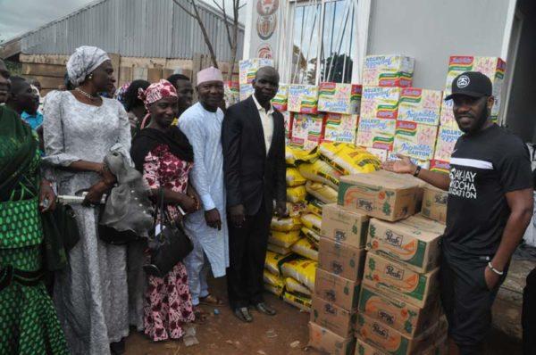 Okocha donates Foods items