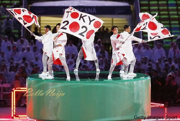 Dancers perform during the closing ceremony of the Rio de Janeiro Olympics on Aug. 21, 2016. (Kyodo) ==Kyodo