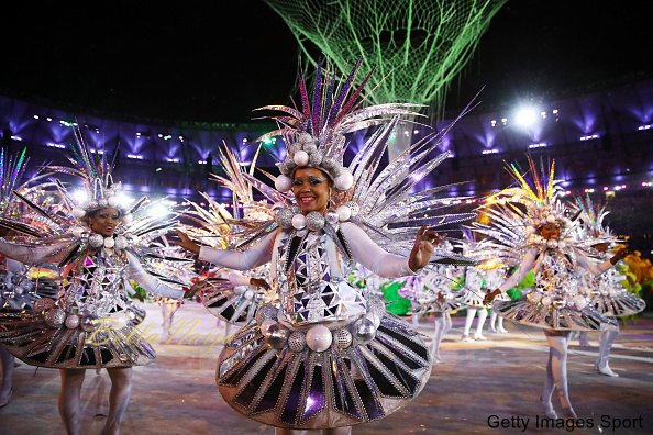 during the Closing Ceremony on Day 16 of the Rio 2016 Olympic Games at Maracana Stadium on August 21, 2016 in Rio de Janeiro, Brazil.