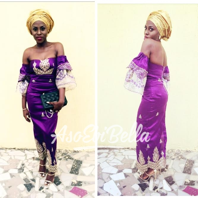 Outfit by @kikiblacofficial Makeup and gele @temitayo_beauty