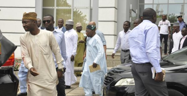 Obasanjo at the Shehu Musa Yar'adua Centre on Friday