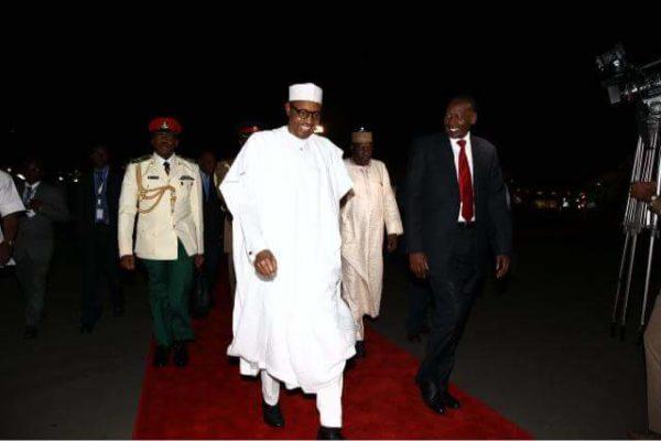 President Buhari Arrives Kenya