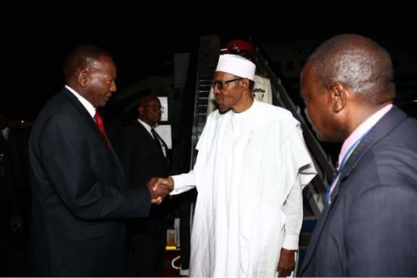 President Buhari Arrives Kenya2