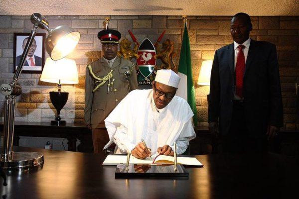 President Buhari Arrives Kenya4
