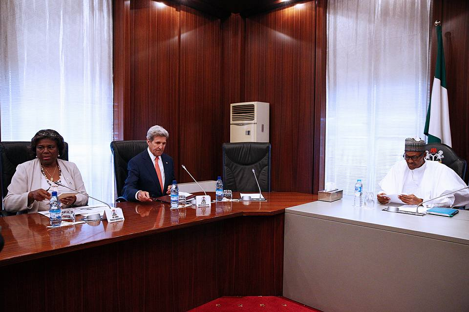 President Buhari Receives John Kerry1