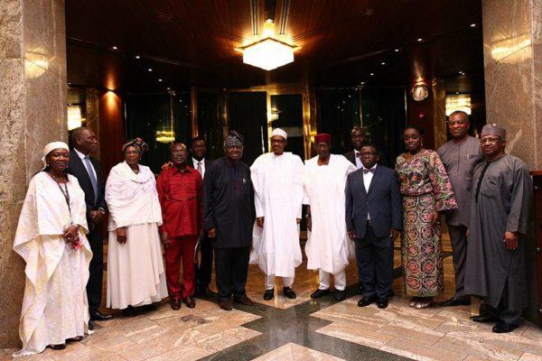 President Buhari Receives UNFPA ED Babatunde Osotimehim