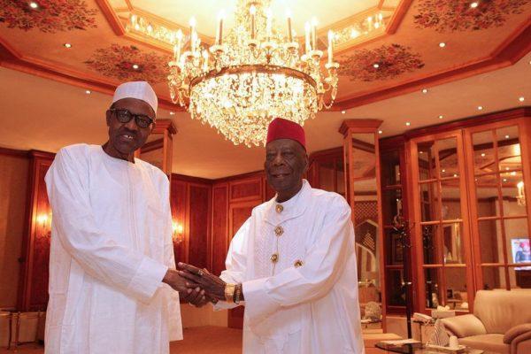 President Buhari and HRM King G.N.K. Gininwa (JP) OFR