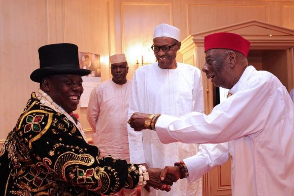President Buhari and Ogoni Leaders2