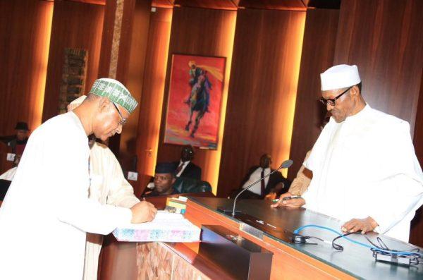President Buhari swears in Special Advisers2