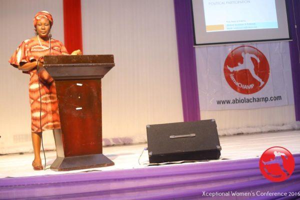 Prof. Remi Sonaiya delivering a Paper Presentation