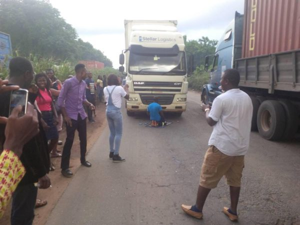 Tanker Driver Halts Traffic