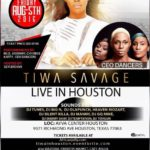 Tiwa Savge in Houston