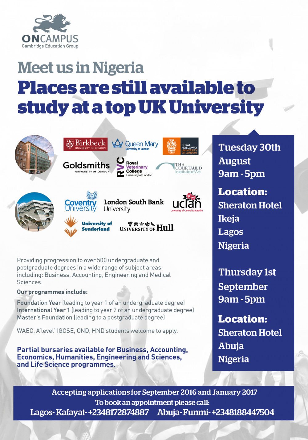 UK ONCAMPUS Advert - Larry Jasevicius Nigeria Visit