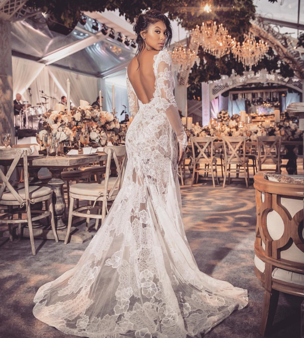 Stylish Wedding Gowns: Kevin Hart & Eniko Parrish Are Married! First Wedding