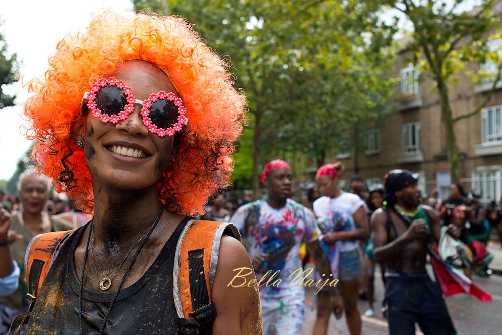 LONDON, ENGLAND - AUGUST 28: Revellers take part in the Notting Hill Carnival on August 28, 2016 in London, England. The Notting Hill Carnival has taken place every year since 1966 in Notting Hill in north-west London and is one of the largest street festivals in Europe with more than a million people expected over two days. (Photo by Ben A. Pruchnie/Getty Images)