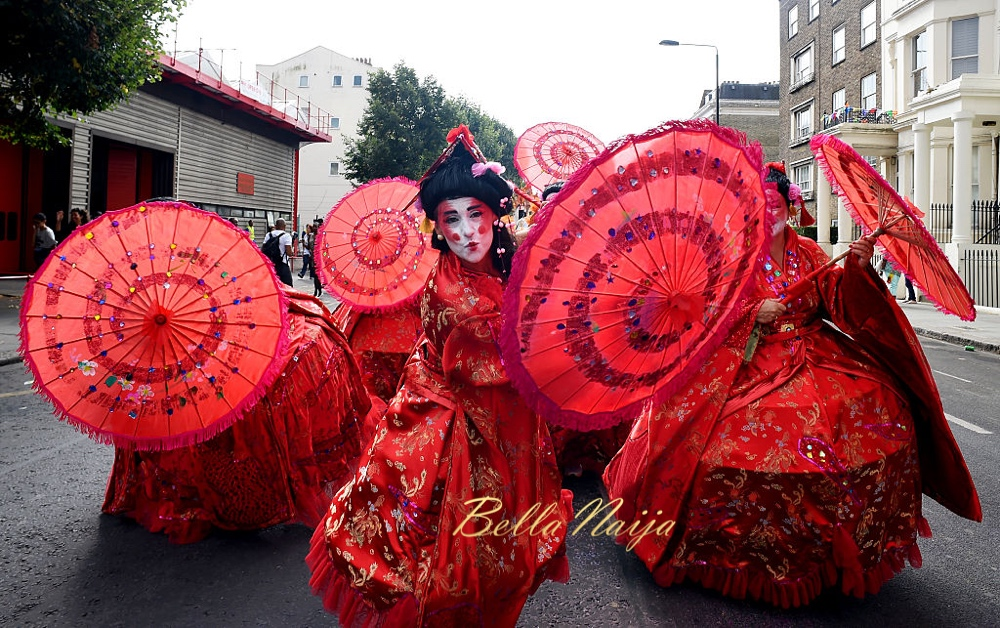 LONDON, ENGLAND - AUGUST 29: Performers join in the celebrations during the Notting Hill Carnival on August 29, 2016 in London, England. The Notting Hill Carnival has taken place every year since 1966 in Notting Hill in north-west London and is one of the largest street festivals in Europe with more than a million people expected over two days. (Photo by Ben A. Pruchnie/Getty Images)