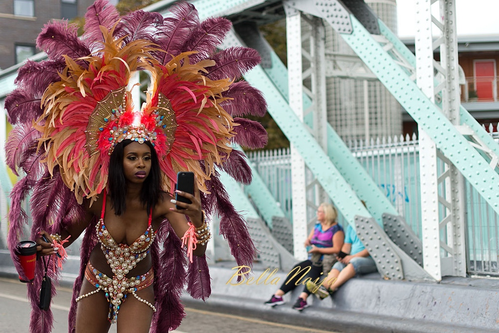LONDON, ENGLAND - AUGUST 29: A performer takes part in the Notting Hill Carnival on August 29, 2016 in London, England. The Notting Hill Carnival has taken place every year since 1966 in Notting Hill in north-west London and is one of the largest street festivals in Europe with more than a million people expected over two days. on August 29, 2016 in London, England. (Photo by Ben A. Pruchnie/Getty Images)