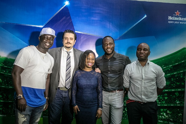 Seyi Law, Marketing Director; Franco Maria Maggi, Amina Jagun, Brand Manager; Obabiyi Fagbade, Portfolio Manager, International Brands; Sampson Oloche