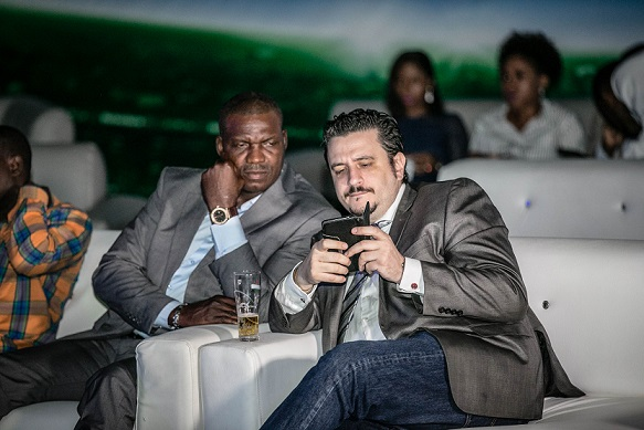 Austin Eguavoen and Marketing Director, Nigerian Breweries, Franco Maria Maggi