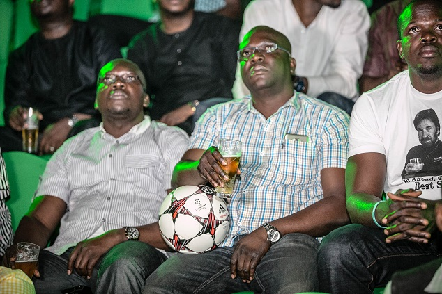Audience watching the unveiling of Heineken's The Prep Talk video with starring Mourinho