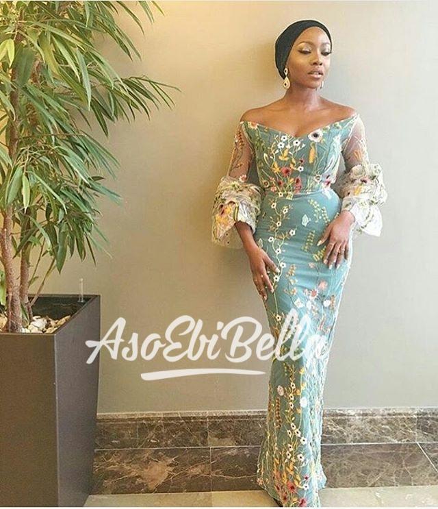@inidimaokojie in @fablanebyderin Fabric by @glitz_allure_fabrics