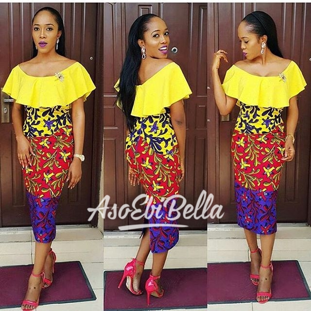 @yomisummerhues Ankara by @ankarahqfabrics Dress by @redbuttonclo Accessories by @jewels_by_plush