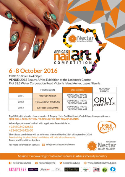 AFRICA'S NAIL ART COMPETITION FLYER 2016 Updated
