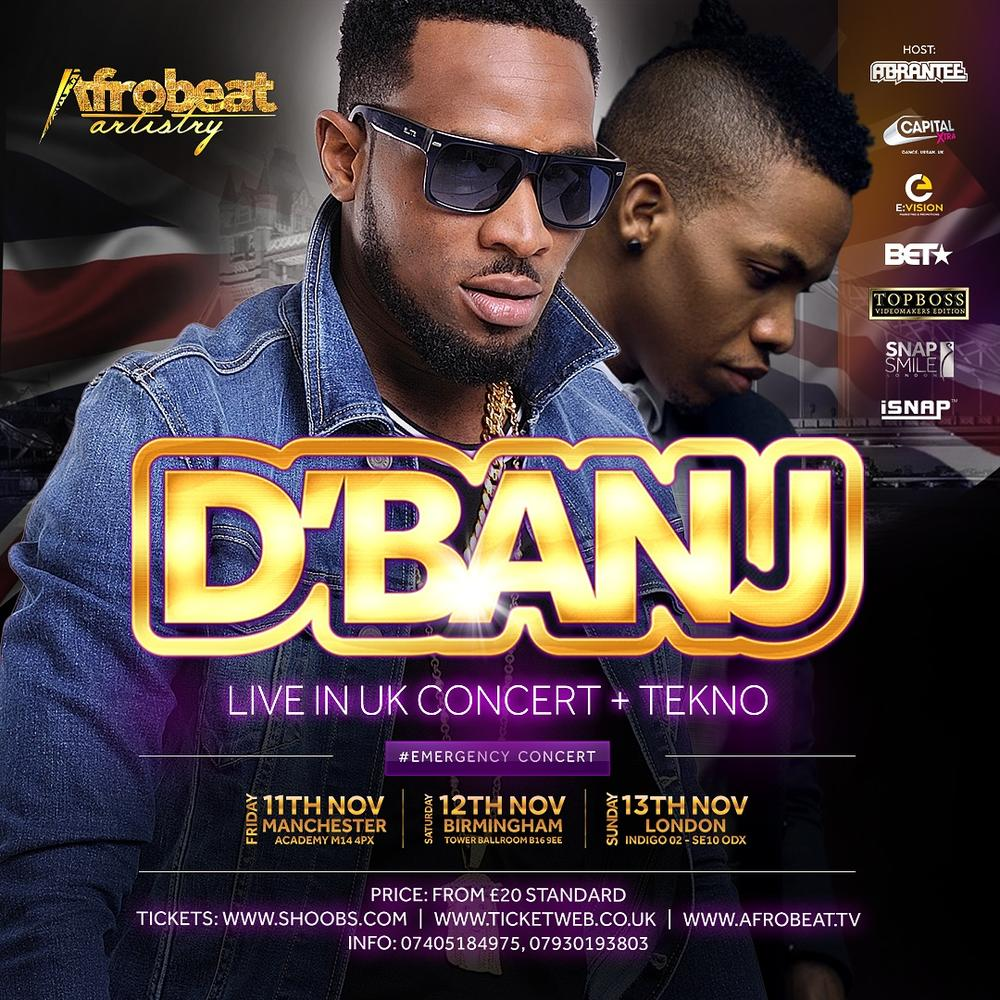 UK, Are you Ready? D'banj & Tekno are Coming through This November for the Kokomaster's Biggest Headline Concert till Date!