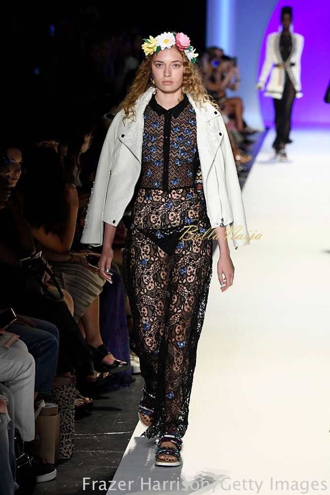 NEW YORK, NY - SEPTEMBER 08: A model walks the runway at Desigual fashion show during New York Fashion Week: The Shows September 2016 at The Arc, Skylight at Moynihan Station on September 8, 2016 in New York City. (Photo by Frazer Harrison/Getty Images for New York Fashion Week: The Shows)
