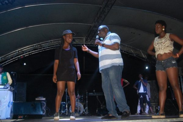 Gbenga Adeyinka with some dance contestants.