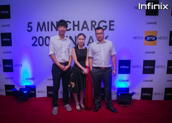 Guest at infinix note 3 event