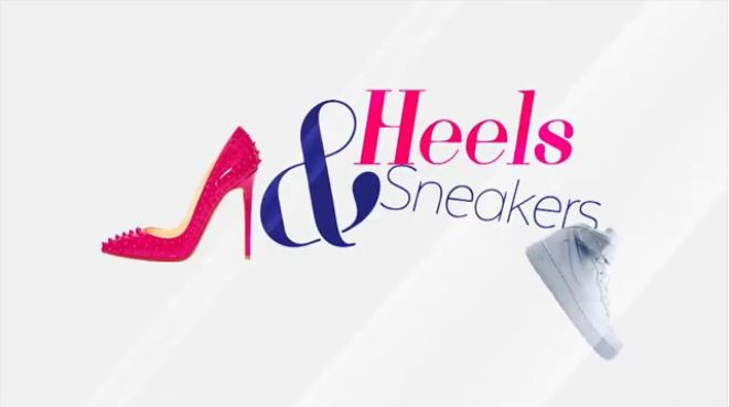 Heels and sneaker