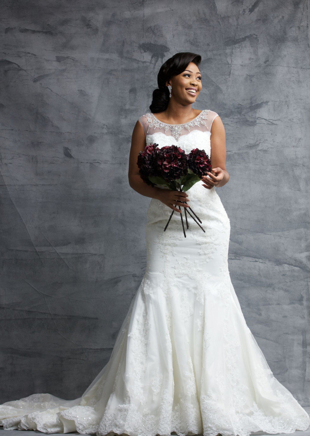 Helena: She's your modern classic bride with an extra bit of tasteful sparkle.
