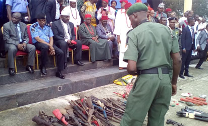 Imo Militants Surrender Arms