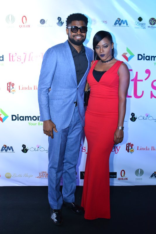 Basketmouth and Elsie Okpocha