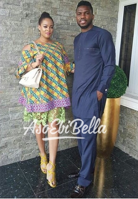 Joseph Yobo & Adaeze Yobo Dress by @dollycoutureng