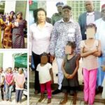 Kidnappers' reign of terror in Benue: Photo (1) Parents with photographs of their abducted relations (2) Arrested kidnappers (3) Benue State Governor, Samuel Ortom, some state officials with rescued kidnap victims. Photos: Attah Ede/PUNCH